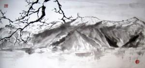 Боко-Которская бухта. Елена Касьяненко, китайская живопись