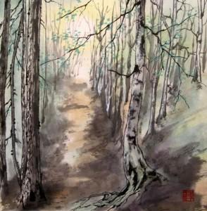 Биоградска гора. Елена Касьяненко, китайская живопись, дорога солнца