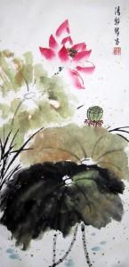 Зрелый лотос. Елена Касьяненко, китайская живопись