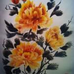 китайская живопись, обучение рисованию, работы учеников, гохуа