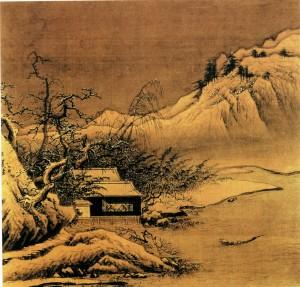 Китайский зимний пейзаж