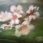 мастер-класс, пастель, весеннее цветение, обучение рисованию с нуля