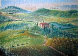 Тоскана. Елена Касьяненко, пастель, мастер-класс, обучение рисованию