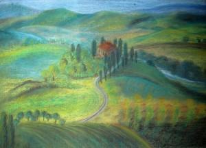 Тоскана. Нина Дудникова, пастель