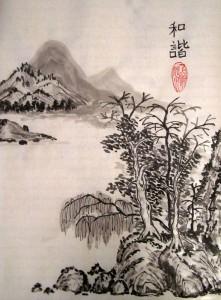 гохуа, горы-воды, китайская живопись, обучение рисованию