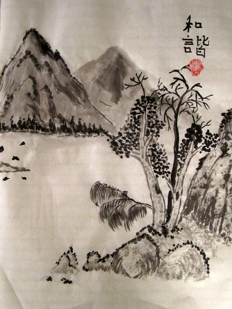 Китайская живопись гохуа как рисовать поэтапно видео