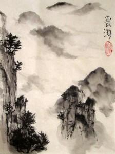 туманы, китайская живопись, обучение рисованию, гохуа, горы воды, пейзажи