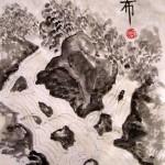 гохуа, обучение рисованию, горы-воды, китайская живопись, водопады, работы ученико