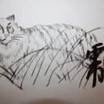 китайская живопись у-син тигр