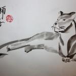 китайская живопись у-син львица