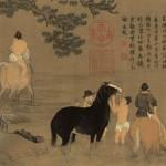 Zhao_Mengfu._Bathing_Horses._28.1_x_155.5_cm_Palace_Museum,_Beijing.