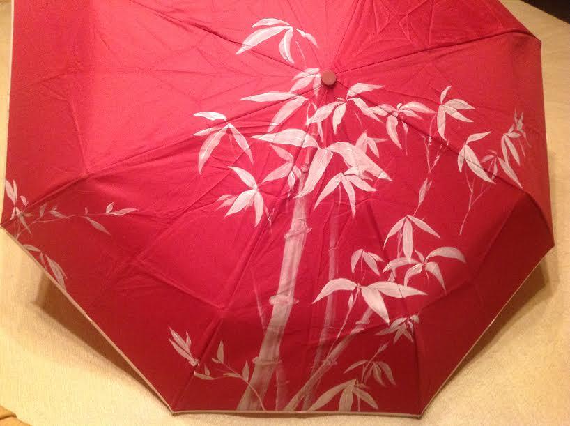 Мастер-класс - Зонт красные цветы